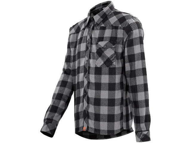 IXS Escapee Flannel Shirt Men Black-Anthracite